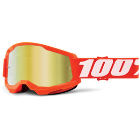 100% Strata Anti-Fog Goggles Gen2 orange/mirror